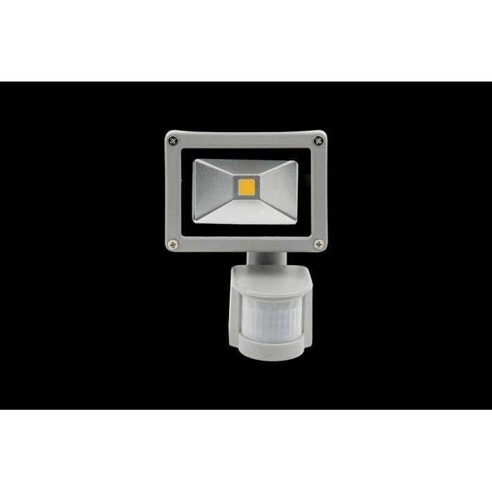1Прожектор светодиодный с датчиком движения 6500К Холодный белыйK FL-COB-10-CW-S