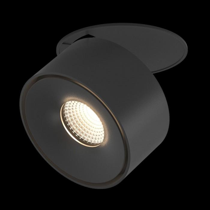 1Светильник светодиодный потолочный встраиваемый, серия GW, черный, 15Вт, IP20, Теплый белый (3000К)