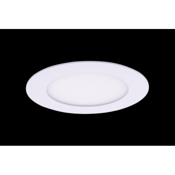 1Светильник светодиодный потолочный встраиваемый PL, Белый, Пластик + алюминий, Нейтральный белый (4000-4500K), 6Вт, IP20 цена