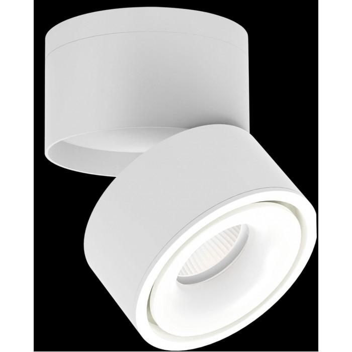 1Светильник светодиодный потолочный накладной поворотный, серия LD, матовый белый, 12Вт, IP20, Теплый белый (3000К)