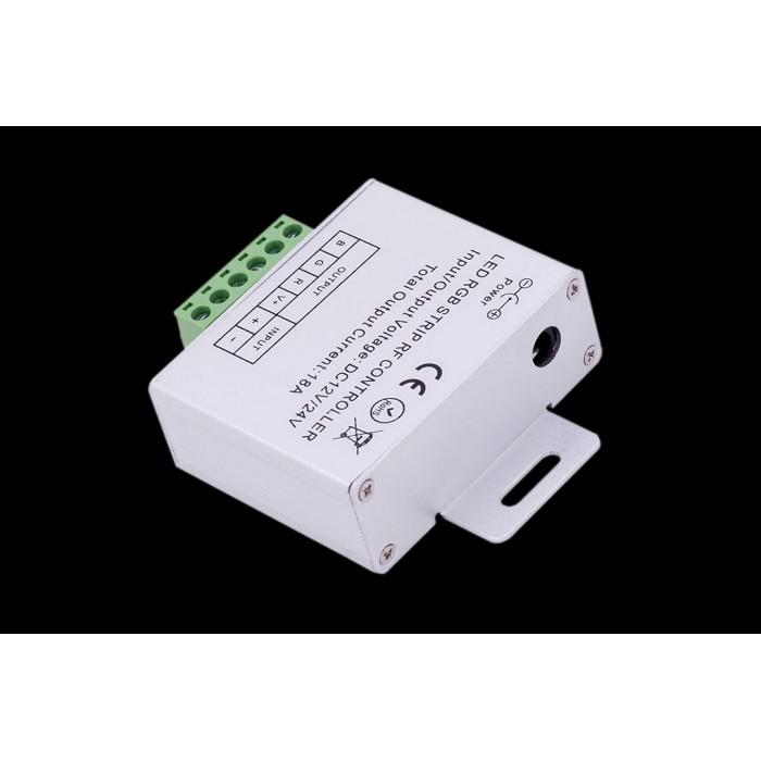 2Led controller touch DELUCE 18А, 12/24 Вольт 5 кнопок и сенсорное кольцо, RF-RGB-S5-18A