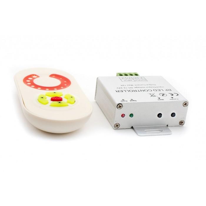 2LED диммер белый сенсор 10 A, max:120W, 12/24V: 240W, RF-DIM-S5-10A