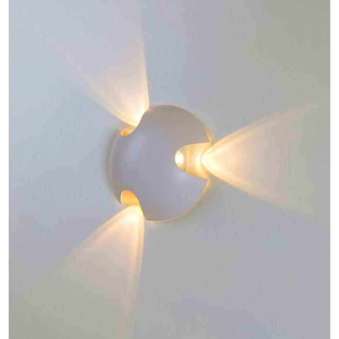 1Настенный светильник BRAND, белый, 3*3Вт, 3000K, IP54, LWA0121C-WH-WW