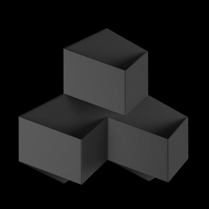 2Бра декоративное PALMIRA, черный, 9Вт, 4000K, IP20, GW-1101-3-9-BL-NW