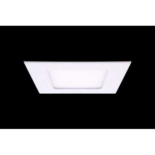 Светильник светодиодный потолочный встраиваемый PL, Белый, Пластик + алюминий, Нейтральный белый (4000-4500K), 6Вт, IP20