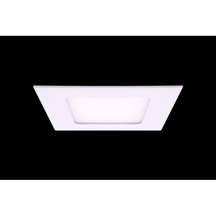 1Светильник светодиодный потолочный встраиваемый PL, Белый, Пластик + алюминий, Нейтральный белый (4000-4500K), 6Вт, IP20