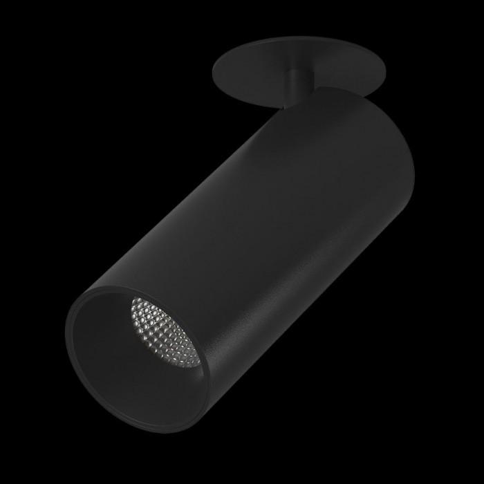 2Светильник под лампу Gu10 потолочный встраиваемый поворотный, серия MJ-2037, черный, 35 (max)Вт, IP20