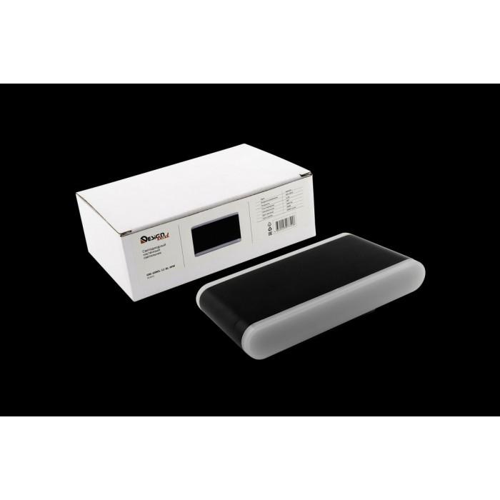 2Настенный светильник BRAVO, черный, 12Вт, 3000K, IP54, GW-6080L-12-BL-WW