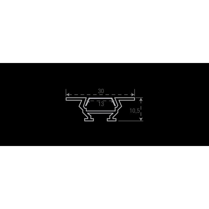2Алюминиевый профиль накладной/встраиваемый угловой RC-1030