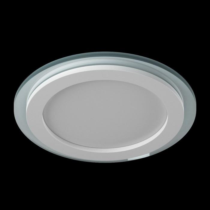 1Светильник светодиодный потолочный встраиваемый P, Белый, Сталь/Стекло, Нейтральный белый (4000-4500K), 12Вт, IP20
