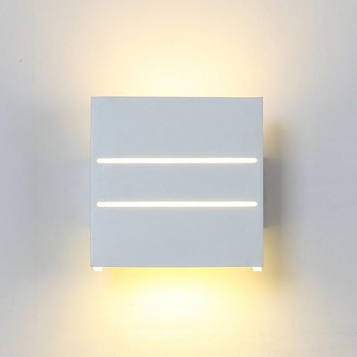 1Бра декоративное RAZOR DBL, белый, 5Вт, 3000K, IP20, GW-7002-5-WH-WW