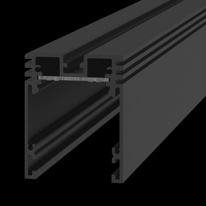 1Трек SY 24В универсальный без проводов черный SY-601201-2-BL, 2м, в комплекте торцевые заглушки 2шт и комплект коннекторов на одно соединение
