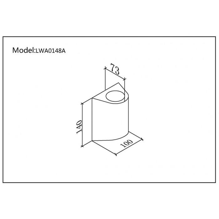 2Настенный светильник ZIMA, черный, 12Вт, 3000K, IP54, LWA0148A-BL-WW