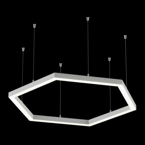 Светильники из профиля Hex-Type-5050-04-63-WW: Профиль LS 5050, Лента 4x DSG 2835 WW 280L-V24-IP33, 700LED, 26W/m, LUX, подвесы. Без блока питания.