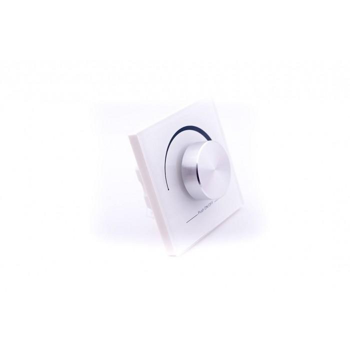 2Радио панель W-DIM (W) встраиваемая в стену с валкодером на 1 зону, белая