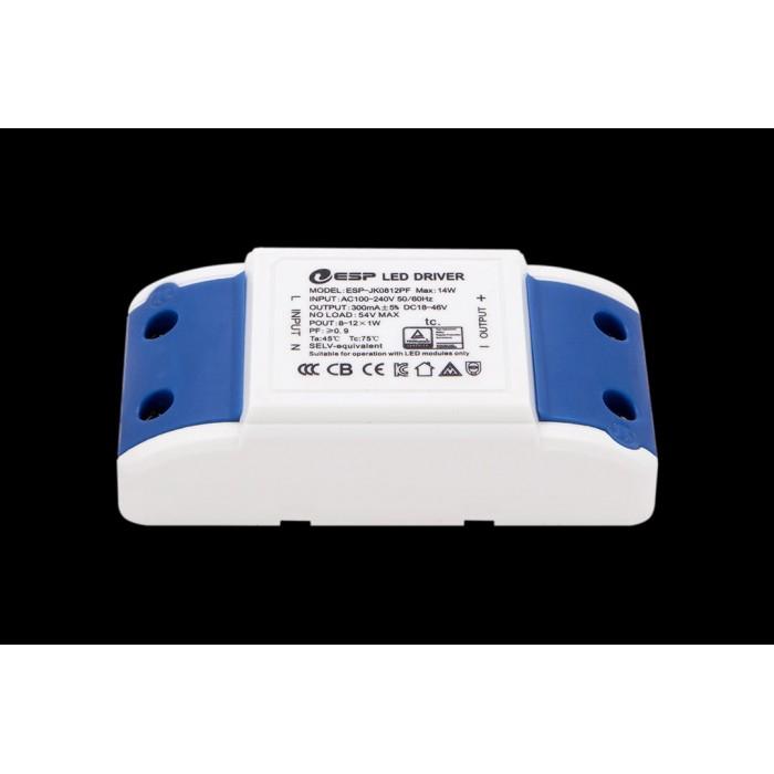2Светильник светодиодный потолочный встраиваемый, серия DW-DL, белый, 12Вт, IP20, Теплый белый (2700К)