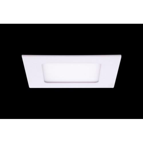 Светильник светодиодный потолочный встраиваемый PL, Белый, Пластик + алюминий, Теплый белый (2700-3000K), 6Вт, IP20