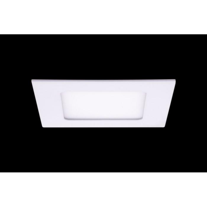 1Светильник светодиодный потолочный встраиваемый PL, Белый, Пластик + алюминий, Теплый белый (2700-3000K), 6Вт, IP20