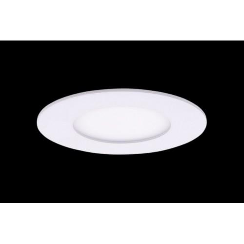 Светильник светодиодный потолочный встраиваемый PL, Белый, Пластик + алюминий, Теплый белый (2700-3000K), 3Вт, IP20