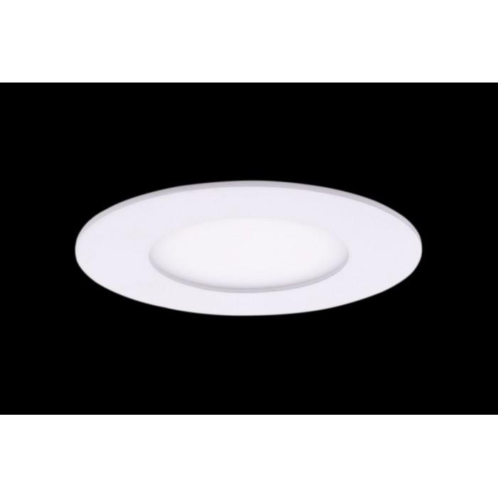 1Светильник светодиодный потолочный встраиваемый PL, Белый, Пластик + алюминий, Теплый белый (2700-3000K), 3Вт, IP20