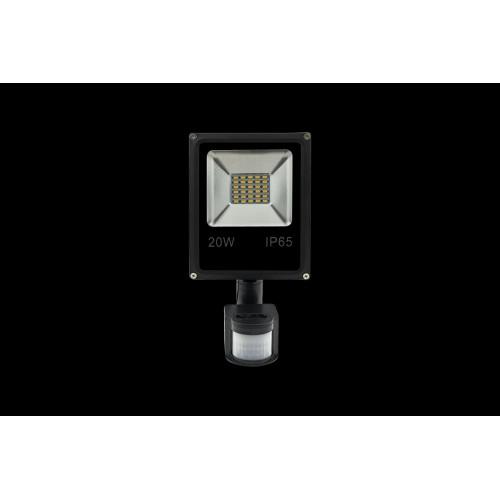 Прожектор светодиодный с датчиком движения 5630 6500К Холодный белыйK FL-SMD-20-CW-S