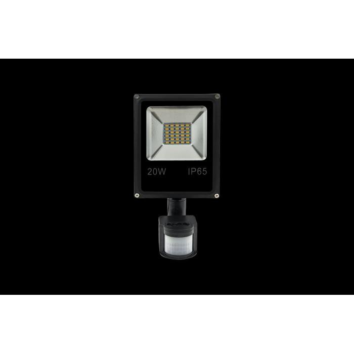1Прожектор светодиодный с датчиком движения 5630 6500К Холодный белыйK FL-SMD-20-CW-S