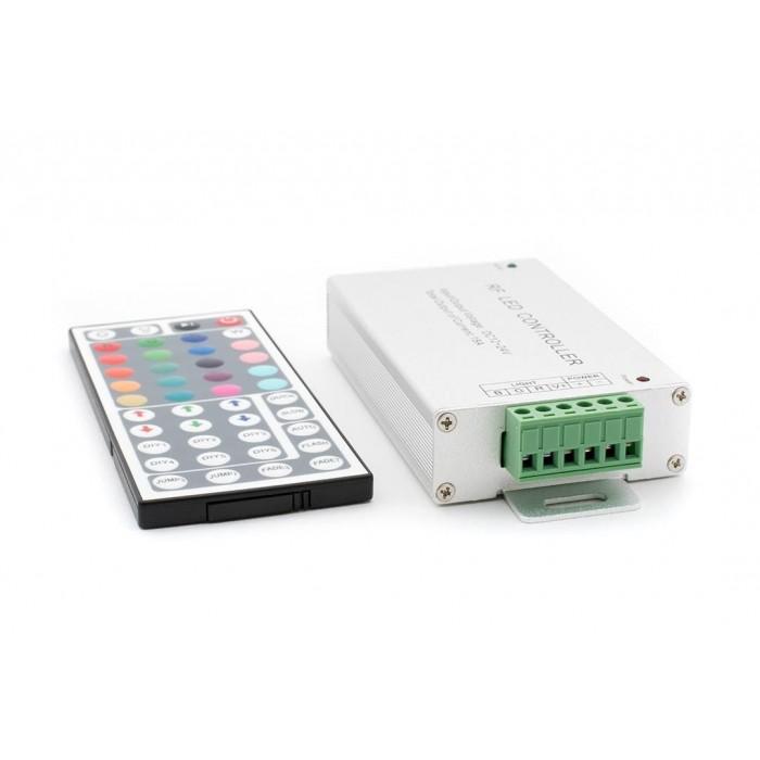 2LED MIX RGB контроллер 18А 12-24 Вольт, РФ 44 кн, RF-RGB-44-18A