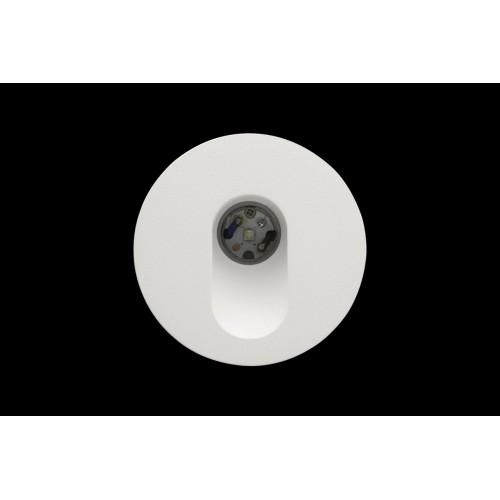 003297 Бра встраиваемое для подсветки лестницы/пола FLOOR R, белый, 3Вт, 4000K, IP20, GW-R612-3-WH-NW DesignLed
