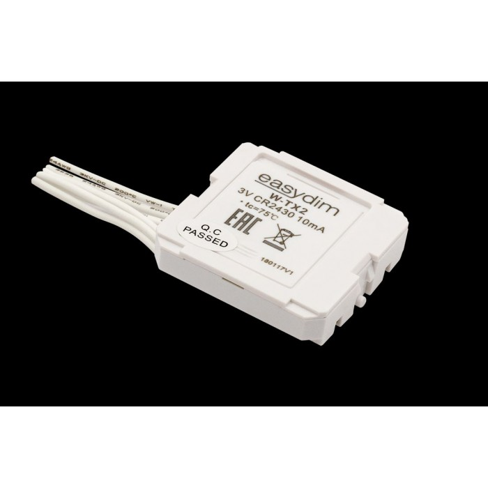 1Радио передатчик W-TX2 для установки за выключателями других производителей на 2 зоны