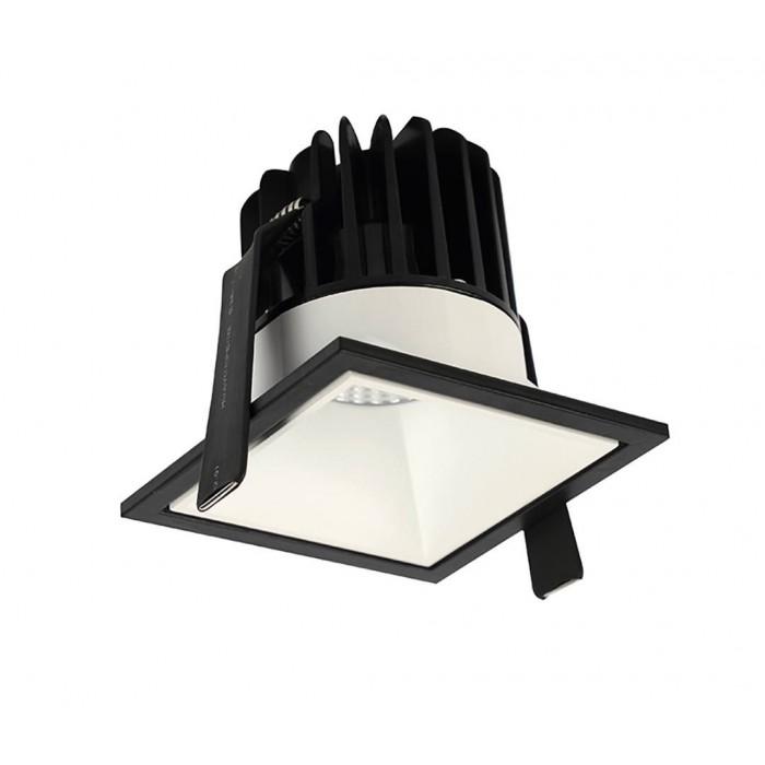 1Светильник светодиодный потолочный встраиваемый, серия IMD, белый, 10Вт, IP44, Теплый белый (3000К)