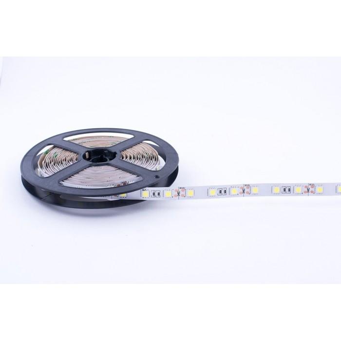 2Лента светодиодная стандарт 5050, 60 LED/м, 14,4 Вт/м, 12В, IP20, Цвет: Холодный белый