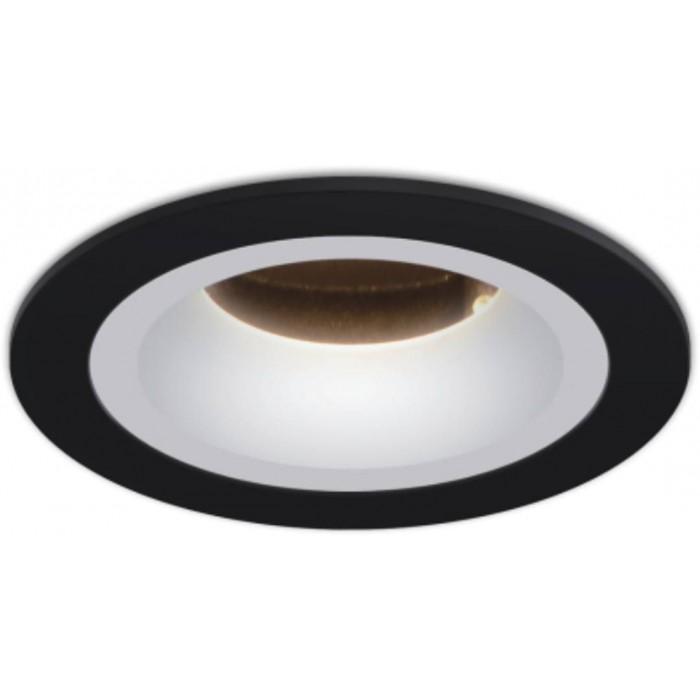 2Светильник светодиодный потолочный встраиваемый наклонный, черно-белый, 7,7Вт, Теплый белый (3000К)