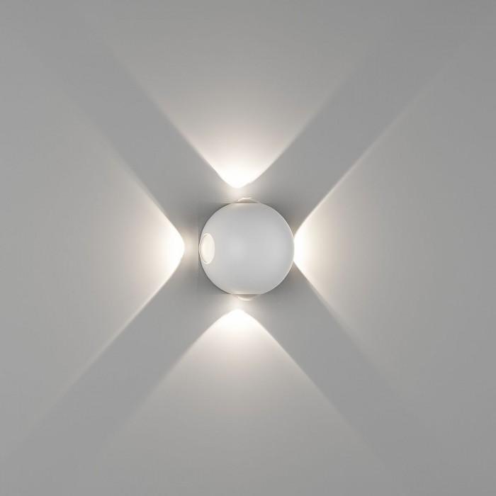 1Настенный светильник SFERA-DBL, белый, 4Вт, 3000K, IP54, GW-A161-4-4-WH-WW