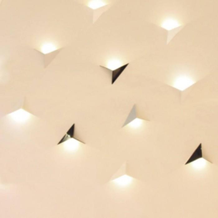 2Бра декоративное TRIK, белый, 3Вт, 4500K, IP20, GW-9103-3-WH-NW