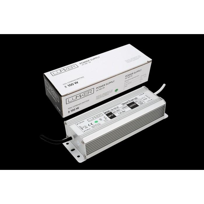 1Блок питания для светодиодной ленты LUX влагозащищенный, 24В, 100Вт, IP67