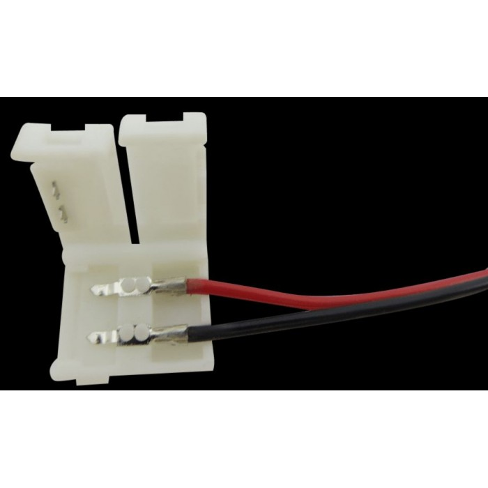 2Коннектор для ленты 5050 для подключения к БП (ширина 10 мм,длина провода 15 см )