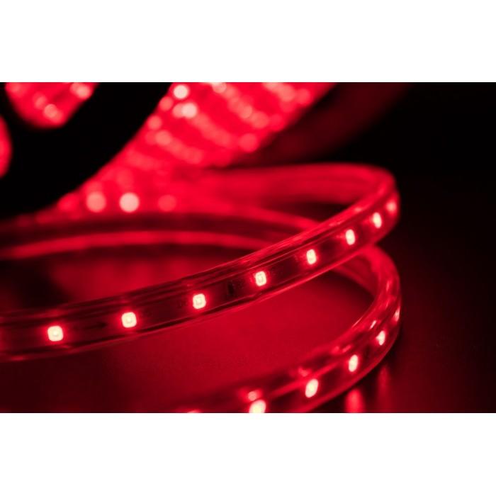 2Лента светодиодная 220, SMD3528, 60LED/м, кат 100м, 4,8 Вт/м, IP68, Красный