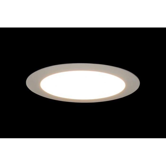 2Светильник светодиодный потолочный встраиваемый PL, Белый, Пластик + алюминий, Нейтральный белый (4000-4500K), 12Вт, IP20