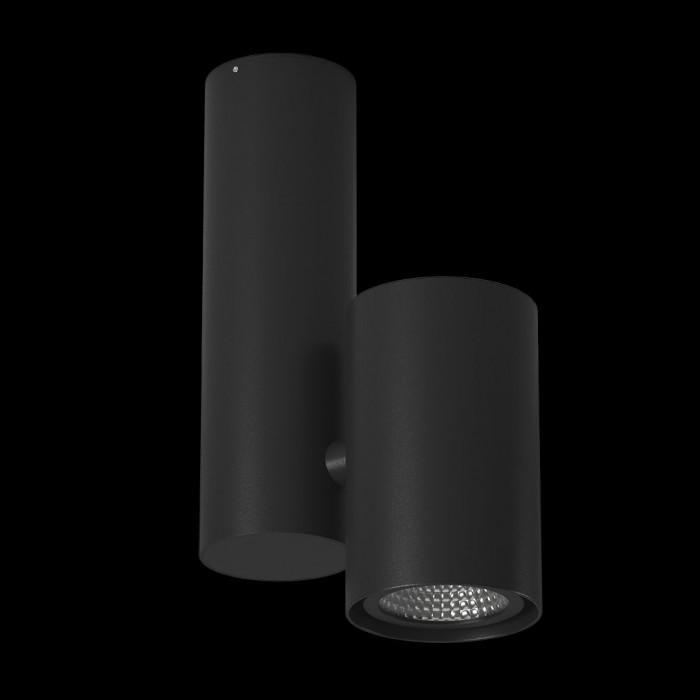 1Светильник под лампу GU10 потолочный накладной поворотный, серия MJ-2045, черный, IP20