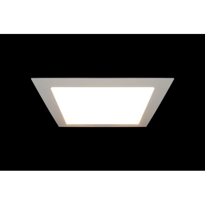 2Светильник светодиодный потолочный встраиваемый Белый, Пластик + алюминий, Нейтральный белый (4000-4500K), 18Вт, IP20