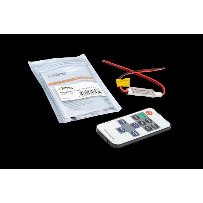 2Мини-диммер для одноцветной ленты, радио, 11 кнопок, RF-DIM-11-6A