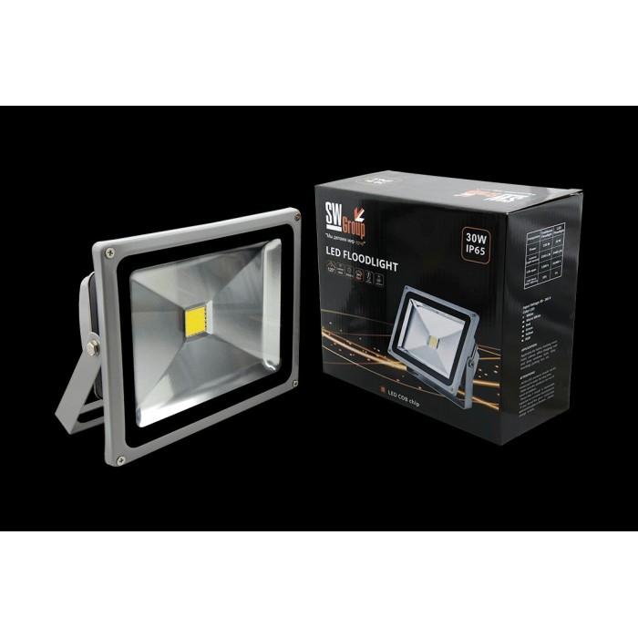 1002268 Прожектор светодиодный 6500К Холодный белыйK FL-COB-30-CW