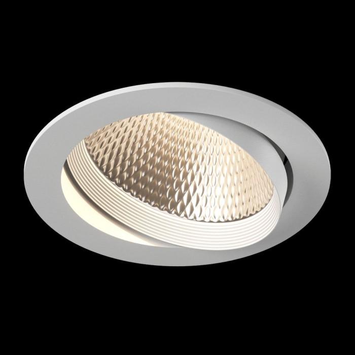 2Светильник светодиодный потолочный встраиваемый наклонный, серия DL-KZ, белый, 30Вт, IP20, Нейтральный белый (4000К)