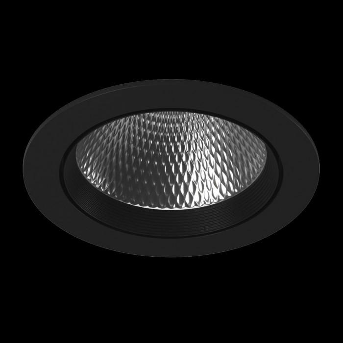 1Светильник светодиодный потолочный встраиваемый наклонный, серия DL-KZ, черный, 30Вт, IP20, Нейтральный белый (4000К)