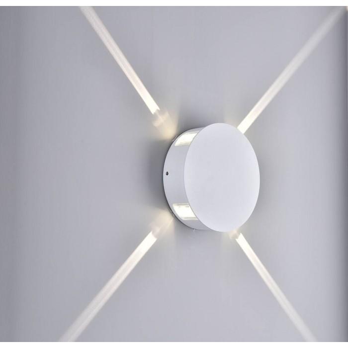 2Настенный светильник STAR, белый, 4Вт, 3000K, IP54, GW-A131-4-4-WH-WW