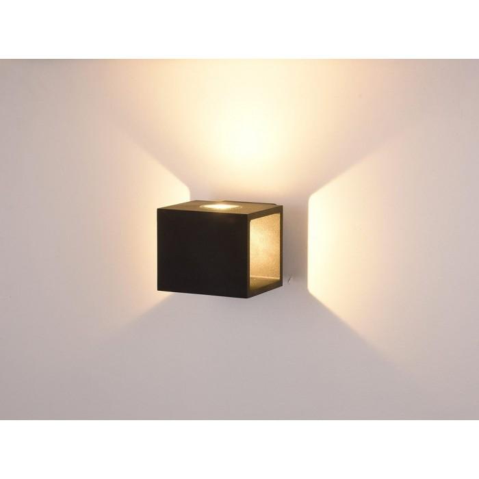2Настенный светильник KUB, черный, 10Вт, 3000K, IP54, LWA0100A-BL-WW