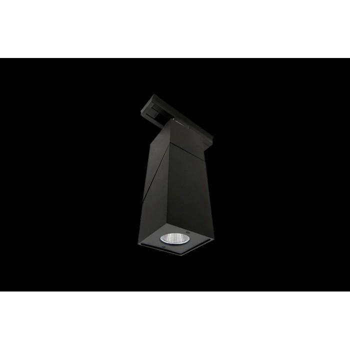 1Трековый LED светильник квадратный черный 3000К LDT-SQBL-10W-WW (LD-3023)