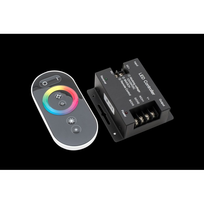 1Led controller touch DELUCE 24А, 12/24 Вольт, RF-RGB-S-24A