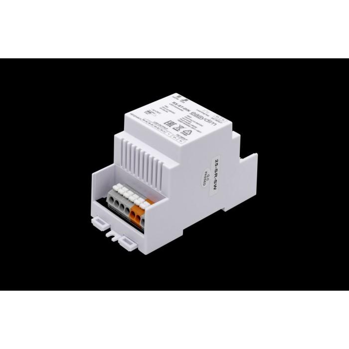 1Универсальный приемник-контроллер RX-ST-DIN с креплением на DIN-рейку для светодиодных лент RGB, RGB+W, MIX