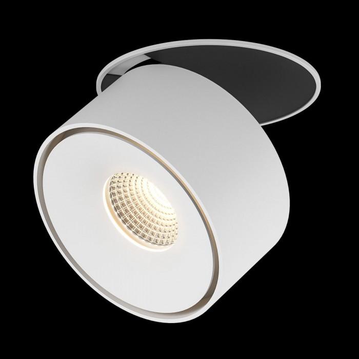 1Светильник светодиодный потолочный встраиваемый, серия GW, белый, 15Вт, IP20, Теплый белый (3000К)